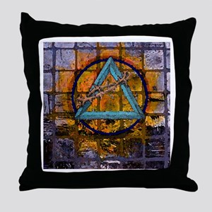 AA Graffiti Throw Pillow