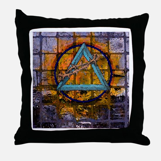AA Graffiti Throw Pillow