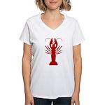 Boiled Crawfish Women's V-Neck T-Shirt