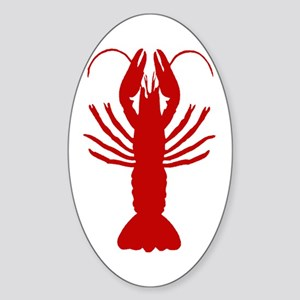 Boiled Crawfish Oval Sticker