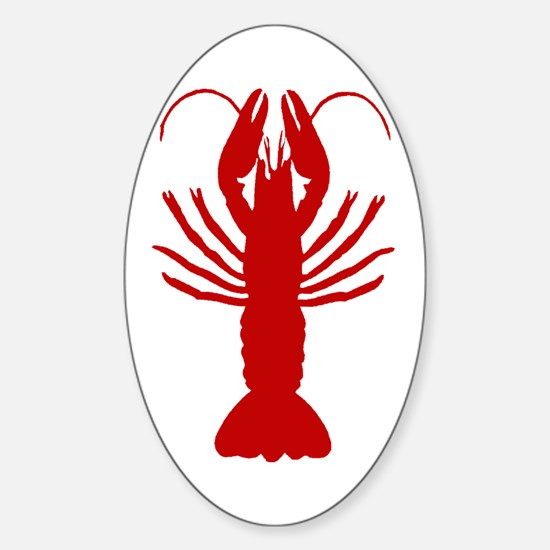 Boiled Crawfish Oval Decal
