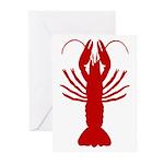 Boiled Crawfish Greeting Cards (Pk of 20)