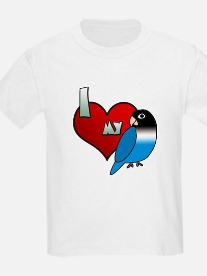 Love Blue Black Masked Lovebird T-Shirt