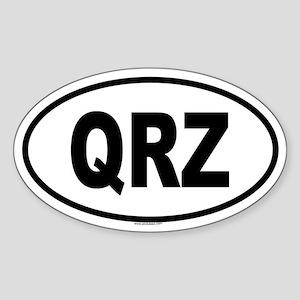 QRZ Oval Sticker