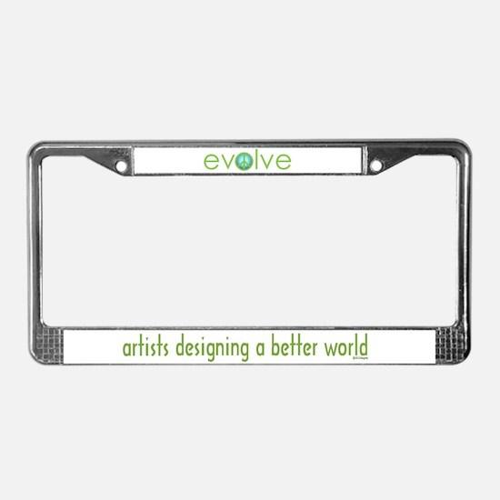 Evolve - Peace License Plate Frame