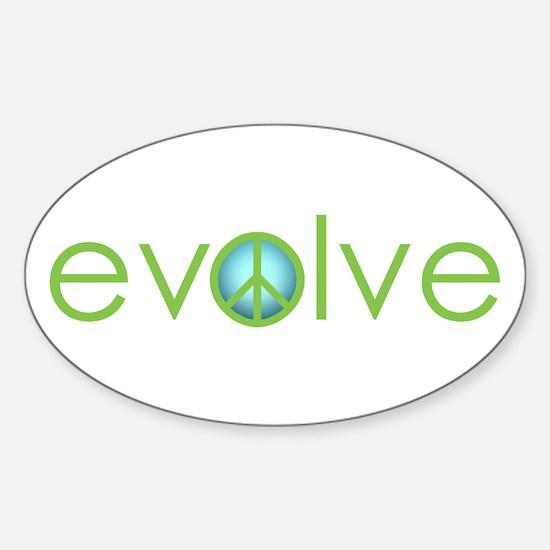 Evolve - Peace Oval Decal