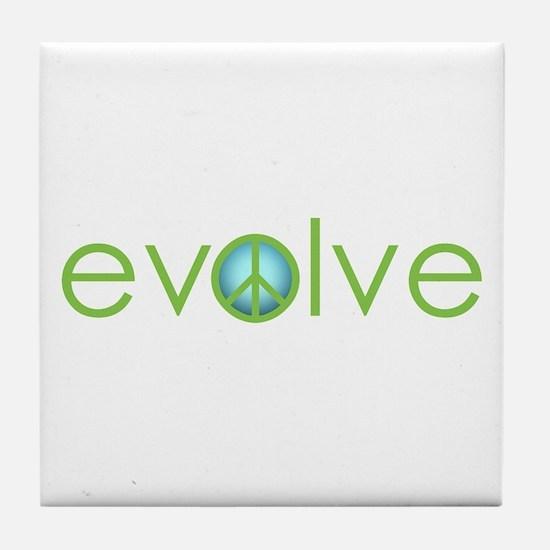Evolve - Peace Tile Coaster