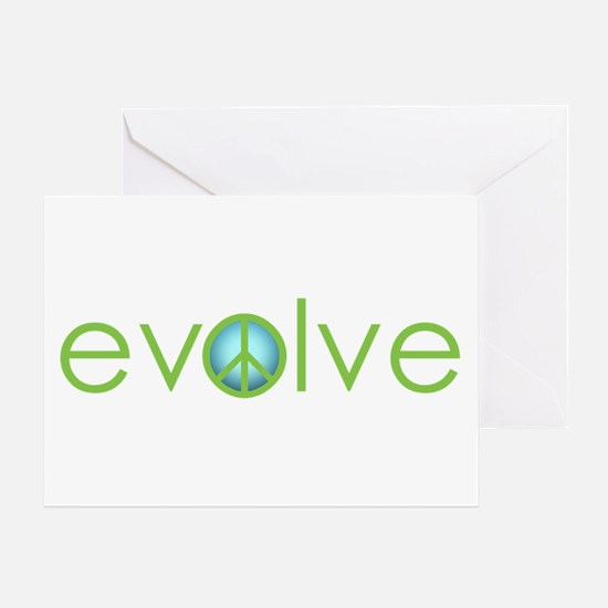 Evolve - Peace Greeting Card