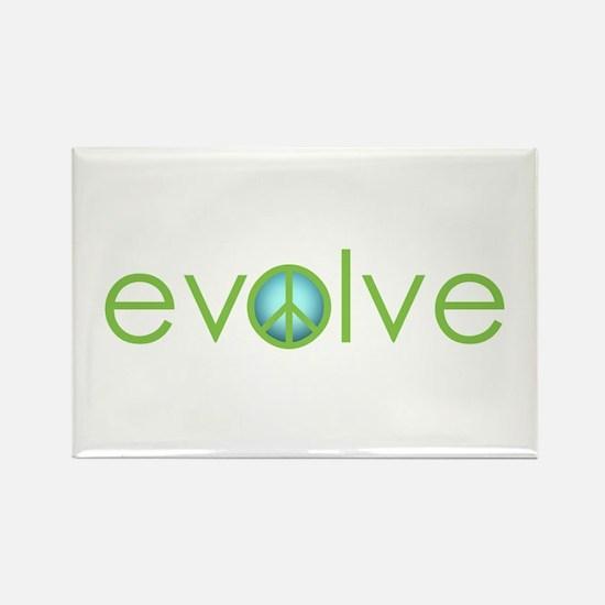 Evolve - Peace Rectangle Magnet