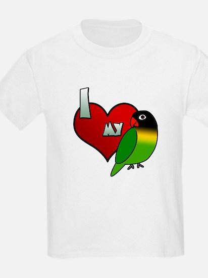 Love Black Masked Lovebird TShirt (Children's)