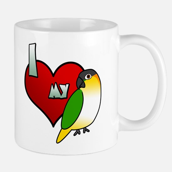 I Love My Black-Headed Caique Mug