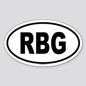 RBG Oval Sticker