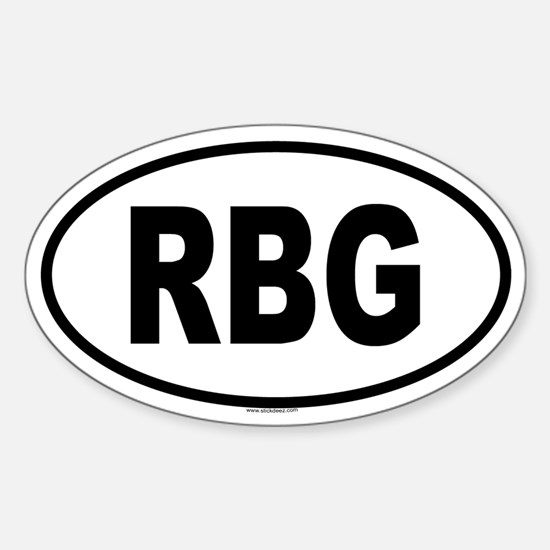 RBG Oval Bumper Stickers