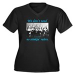 Nuns w/Guns Women's Plus Size V-Neck Dark T-Shirt