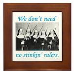 Nuns w/Guns Framed Tile