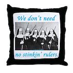 Nuns w/Guns Throw Pillow