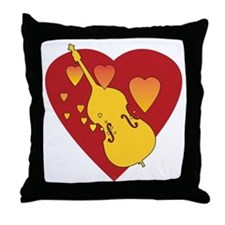 Double Bass Heartsong Throw Pillow