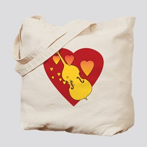Double Bass Heartsong Tote Bag