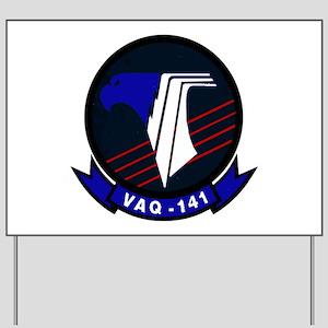 VAQ 141 Shadowhawks Yard Sign