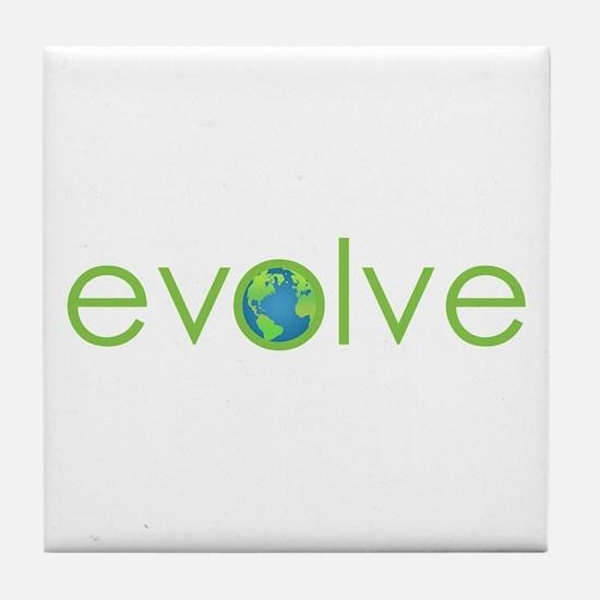 Evolve - planet earth Tile Coaster