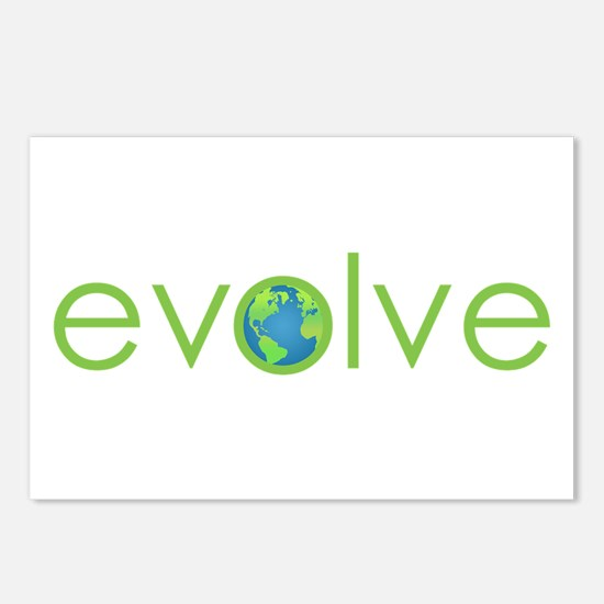 Evolve - planet earth Postcards (Package of 8)