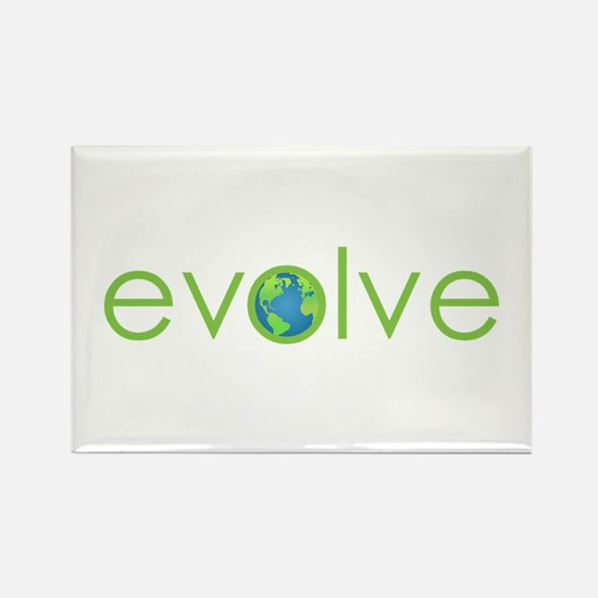 Evolve - planet earth Rectangle Magnet (100 pack)