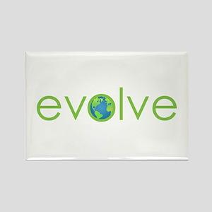 Evolve - planet earth Rectangle Magnet