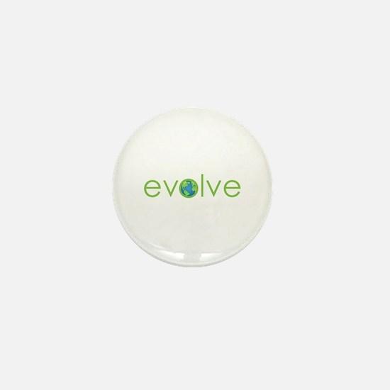 Evolve - planet earth Mini Button