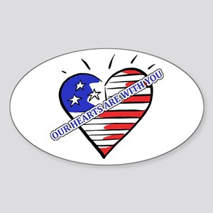 Valentine's for Military Oval Sticker