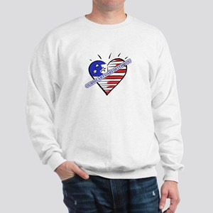 Valentine's for Military Sweatshirt