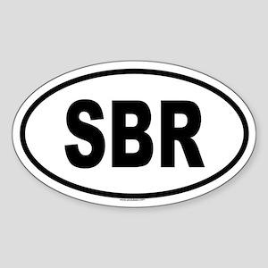 SBR Oval Sticker