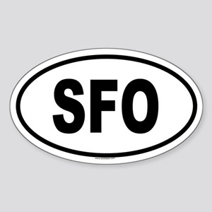 SFO Oval Sticker