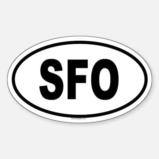 SFO Oval Decal