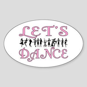 Let's Dance Oval Sticker