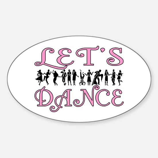 Let's Dance Oval Decal