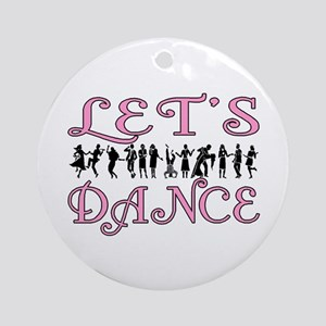 Let's Dance Ornament (Round)