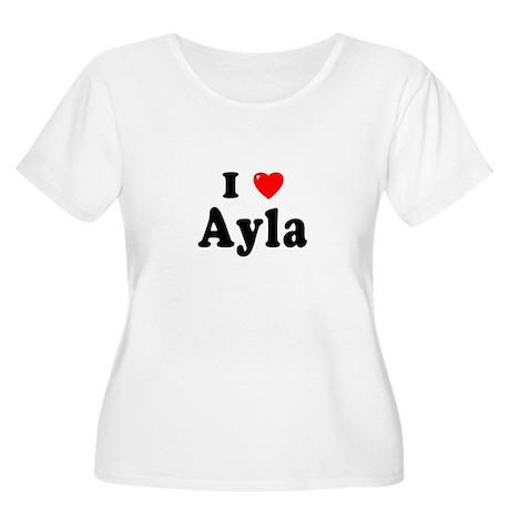 AYLA Womens Plus-Size Scoop Neck T