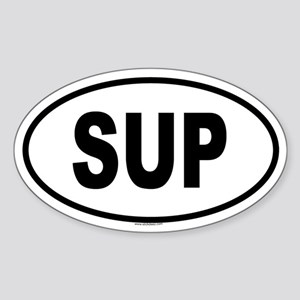 SUP Oval Sticker
