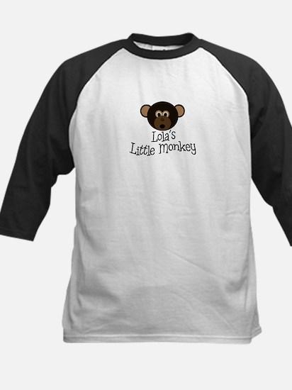 Lola's Little Monkey BOY Kids Baseball Jersey