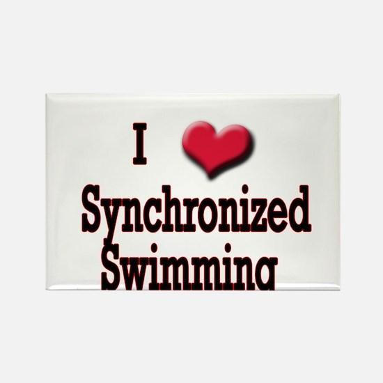 I Love (Heart) Synchronized S Rectangle Magnet