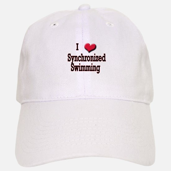 I Love (Heart) Synchronized S Baseball Baseball Cap