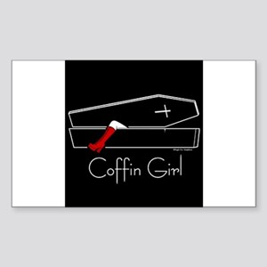 COFFIN GIRL Rectangle Sticker