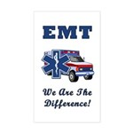 EMT We Are The Difference Sticker (Rectangle)
