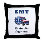 EMT We Are The Difference Throw Pillow