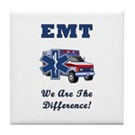 EMT We Are The Difference Tile Coaster
