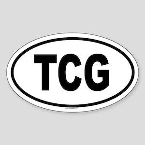 TCG Oval Sticker