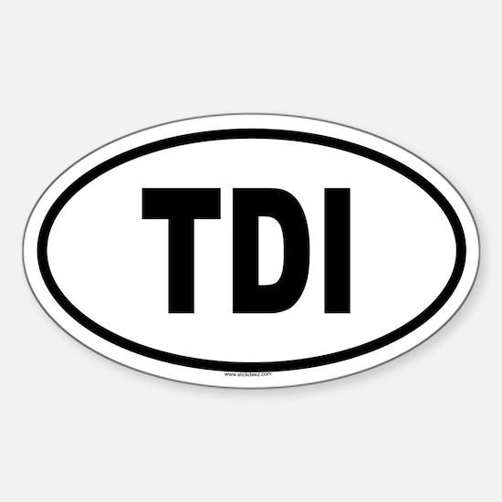 TDI Oval Stickers