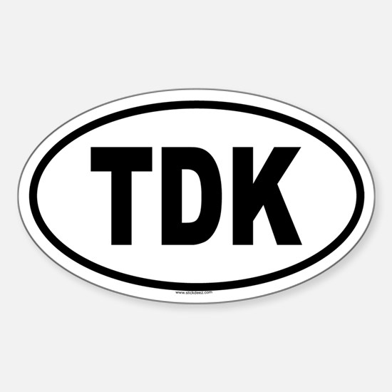 TDK Oval Decal