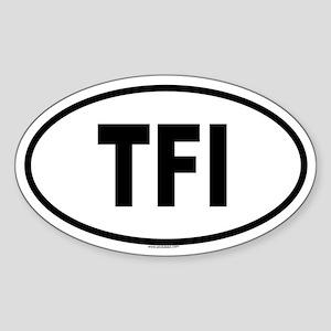 TFI Oval Sticker
