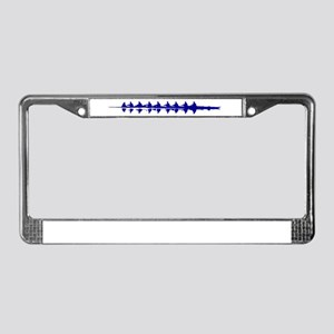 BLUE CREW License Plate Frame